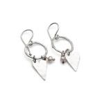 heart earrings with hoops & pearl