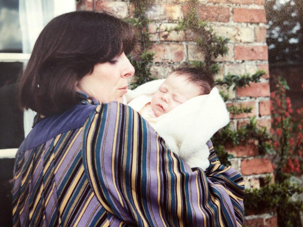 Danka Napiorkowska holding chloe Michell when she was a baby