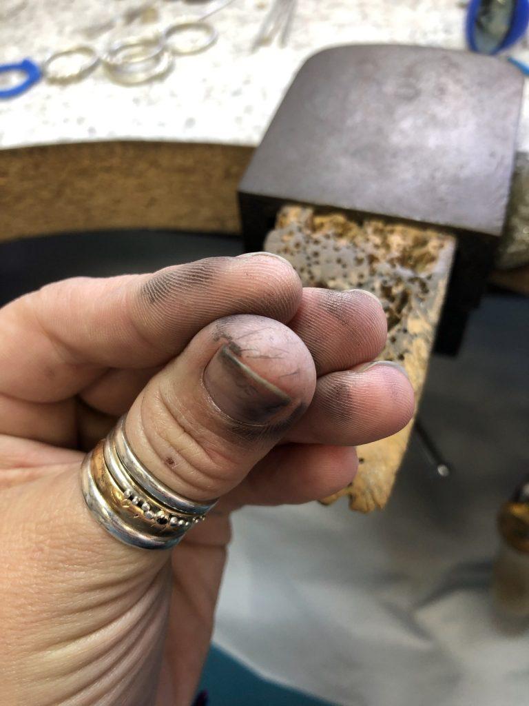 chloe michell's jewellery making hands