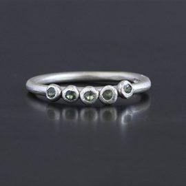 Alexandrite birthstone ring handmade in cornwall by chloe michell jewellery