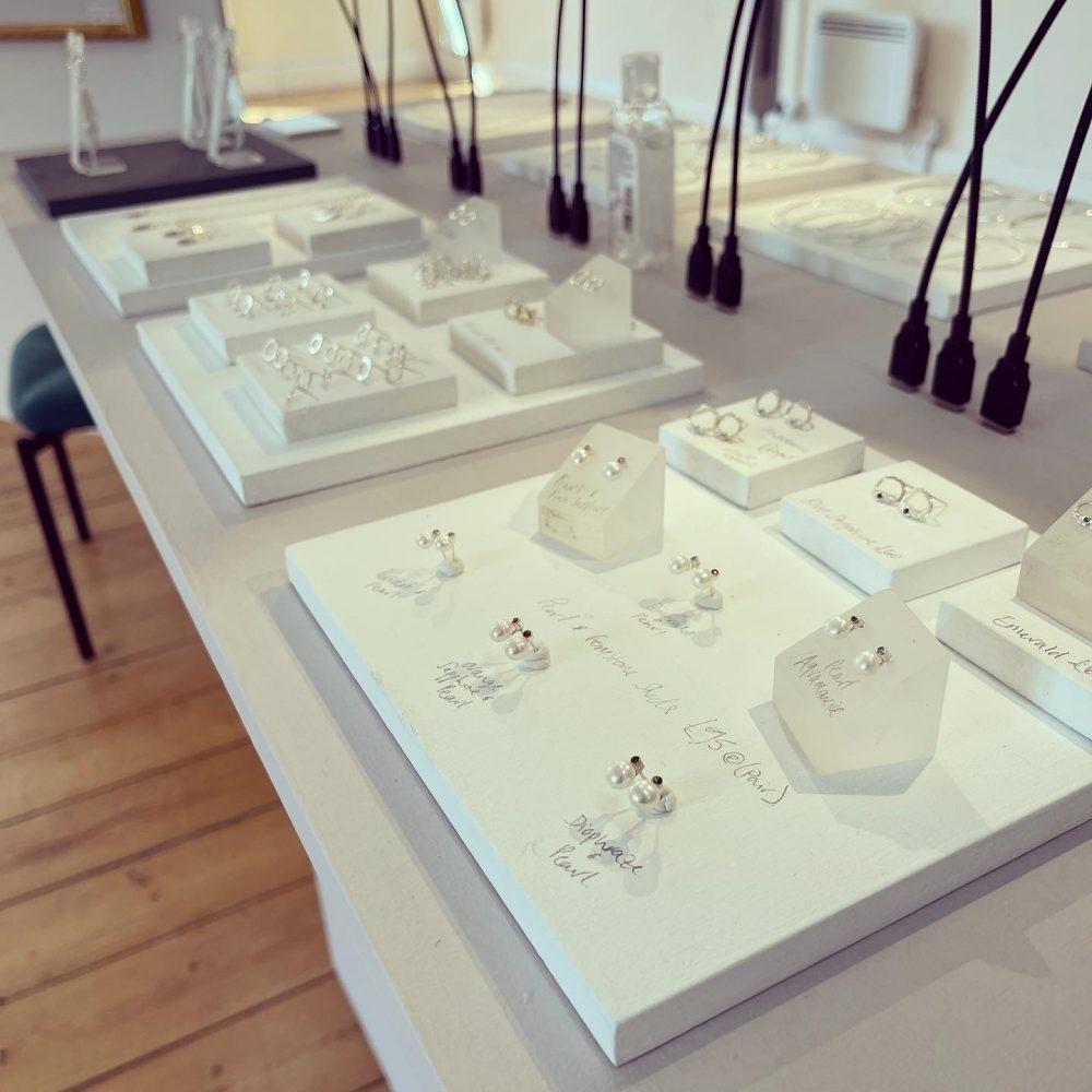Selection so stud earrings by Chloe Michell Jewellery, Cornwall