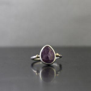 Plum Sapphire Ring