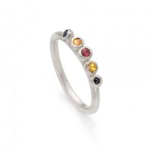 sapphire granulation ring (sterling silver) £240